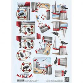 3D Knipvel - Amy Design - Maritime - Meeuwen CD10881