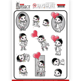 3D Pushout - Yvonne Creations - Petit Pierrot - With Love SB10432
