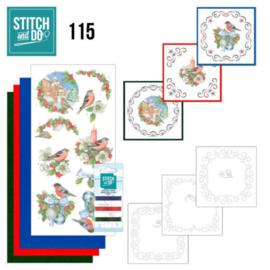 Stitch and Do 115 Christmas Birds STDO115