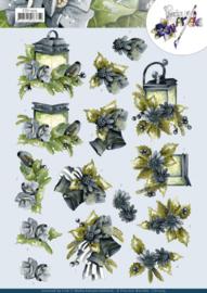 3D Cutting Sheet - Precious Marieke - Blue Flowers CD11505