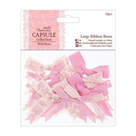 Large Ribbon Bows Wild Rose PMA367116