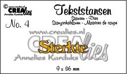 Crealies tekststans - Sterkte (NL) CLTS04 115634/3104 / 9x36