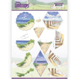 3D knipvel - Jeanine's Art - Spring Landscapes - Beach CD11295