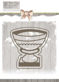Die - Precious Marieke - Rustic Christmas - Stone Vase PM10041