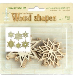 Leane Creatief Wood Shapes stars 71.2533