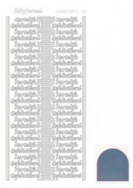Hobby dots sticker Hartelijk Gefeliciteerd mirror Ice STDMHG05