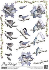 3D Knipvel - Amy Design - Winterbirds CD10582