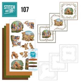 Stitch and Do 107 Wild Animals STDO107