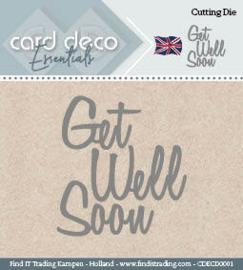 Card Deco Cutting Dies- Get Well Soon CDECD0001