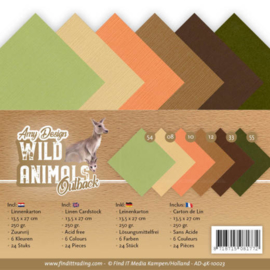 Linen Cardstock Pack - 4K - Amy Design - Wild Animals Outback AD-4K-10023