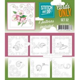 Stitch & Do - Cards only - 4k - Set 32 COSTDO10032