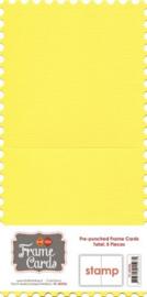Frame Cards - Vierkant - Kanarie geel FC-4KST06