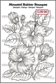 Crealies Mounted Rubber Stampzz no. 6 Hibiscus CLRS06 69x97mm 130505/5106