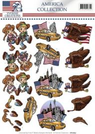 3D Knipvel - Yvonne Creations - America Collection - Cowboy & girl CD10657