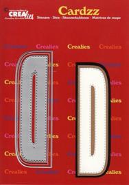 Crealies Cardzz letters letter D CLCZ404 max. 13 cm