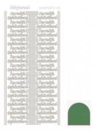 Hobby dots sticker Hartelijk Gefeliciteerd mirror Green STDMHG02