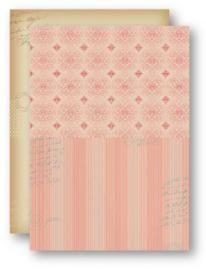 Background Sheets A4 salmon ornament NEVA045