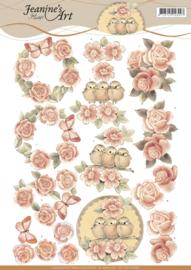 3D knipvel - Jeanine's Art - Vintage Roses - CD11043