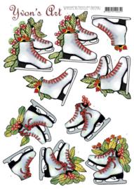 3D Cutting Sheet - Yvon's Art - Skating Fun CD11700