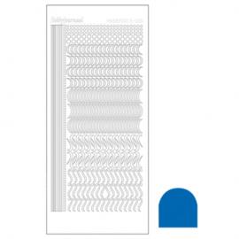 Hobbydots sticker - Mirror Blue 020 STDM20A