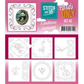 Cards only Stitch 42 - 4k -  COSTDO10042
