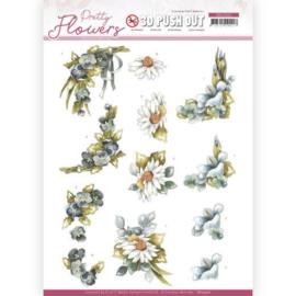 3D Push Out - Precious Marieke - Pretty Flowers - Blue Flowers SB10500