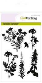 CraftEmotions clearstamps A6 - silhouet berm planten 130501/1278