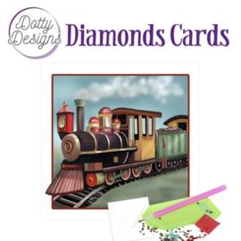 Dotty Designs Diamond Cards - Vintage Locomotive DDDC1035