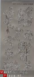 Jeje Bloemen, roos, rozen zilver x13088