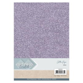 Card Deco Essentials Glitter Paper Lilac CDEGP018