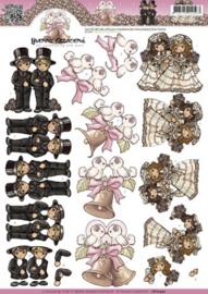 3D Knipvel - Yvonne Creations - Homo Huwelijk CD10442