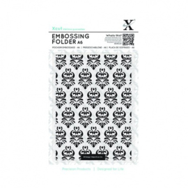 A6 Embossing Folder - Damask Pattern XCU 515143