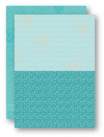 Background Sheets A4 turquoise flowers-2 NEVA049