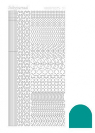 Hobbydots sticker - Mirror Emerald 011 STDM11I