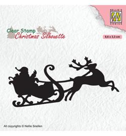 Nellie CSIL011 - Santa Claus with reindeer sleight