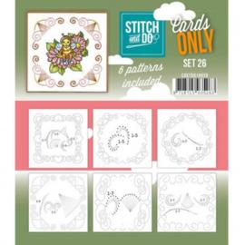 Stitch & Do - Cards only -4k -  Set 26 COSTDO10026