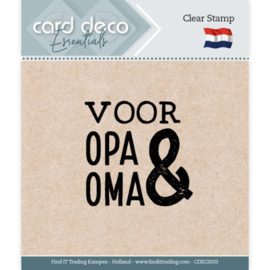 Card Deco Essentials - Clear Stamps - Voor Opa & Oma CDECS033