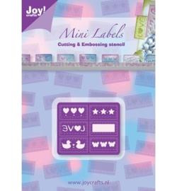 Joy Crafts C&E Mery stencil labels 6002/0180