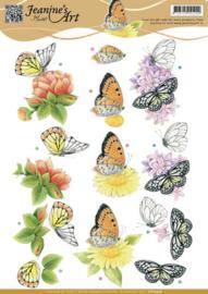 3D knipvel - Jeanine's Art - Orange Flowers CD10936