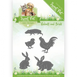 Die - Amy Design - Sweet Pet - Rodents and Birds ADD10119