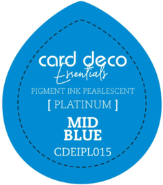 Card Deco Essentials Fast-Drying Pigment Ink Pearlescent Mid Blue CDEIPL015