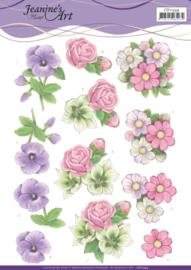 3D cutting sheet - Jeanine's Art - Summer Flowers CD11334