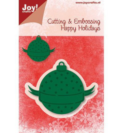 Joy crafts Snij- en embossingmal kerstbal 6002/2014