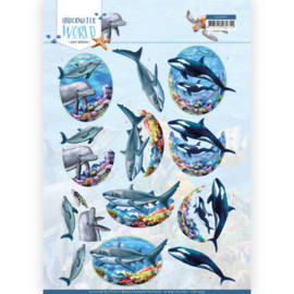 3D Cutting Sheet - Amy Design - Underwater World - Big Ocean Animals CD11499