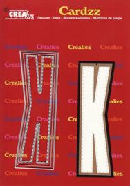Crealies Cardzz letters letter K CLCZ411 max. 13 cm