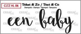 Crealies Clearstamp Tekst&Zo Een baby (NL) CLTZHL06 31 x 11 mm - 43 x 31 mm 130505/2611