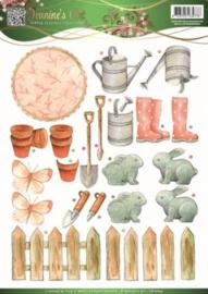 3D Knipvel - Jeanines Art - Garden Classics - Garden Tools 2 CD10833