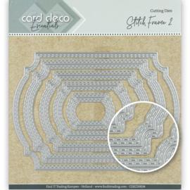 Card Deco Essentials Cutting Dies Stitch Frame 2 CDECD0034