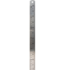 Lineaal 30 cm staal