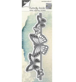 Joy 3D stencil Rand vlinders 6002/0689